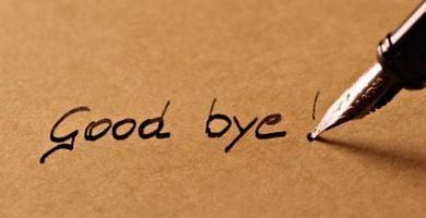 Adiós en Inglés