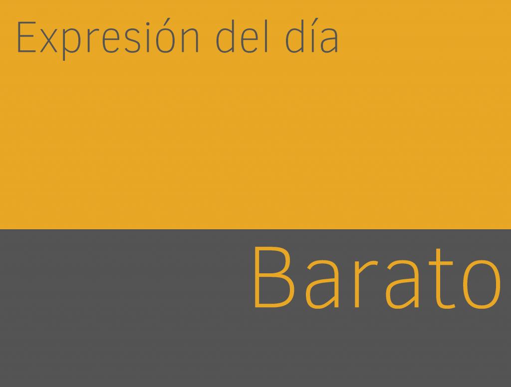 Expresiones de BARATO en inglés 1