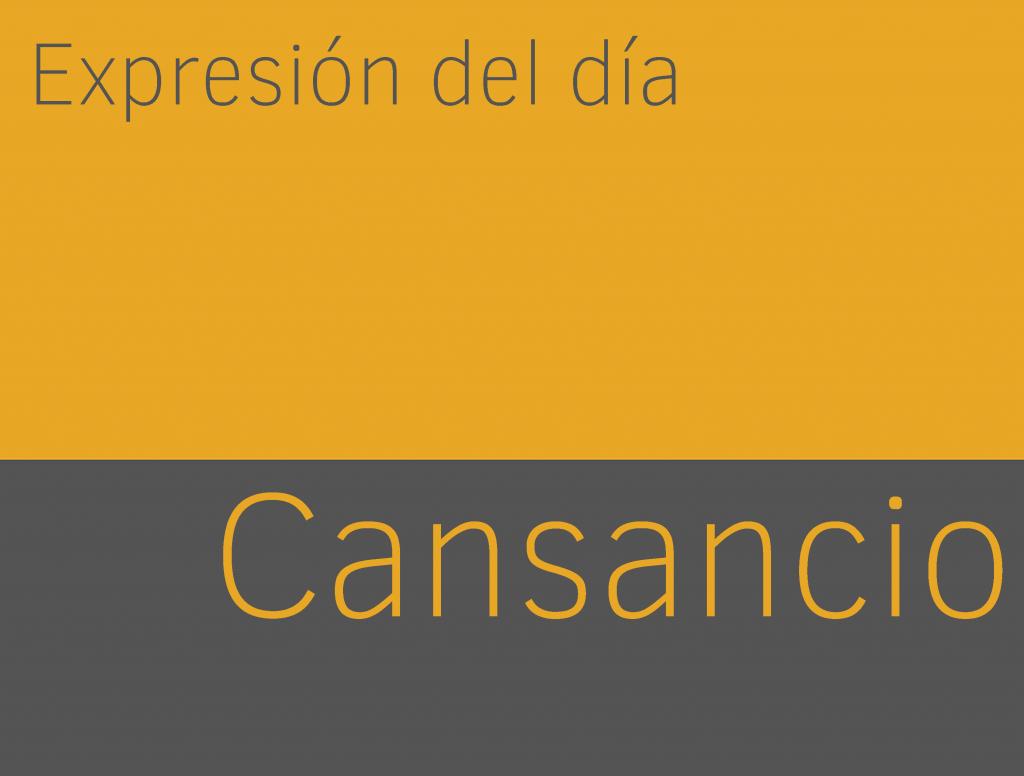 Expresiones de CANSANCIO en inglés 1
