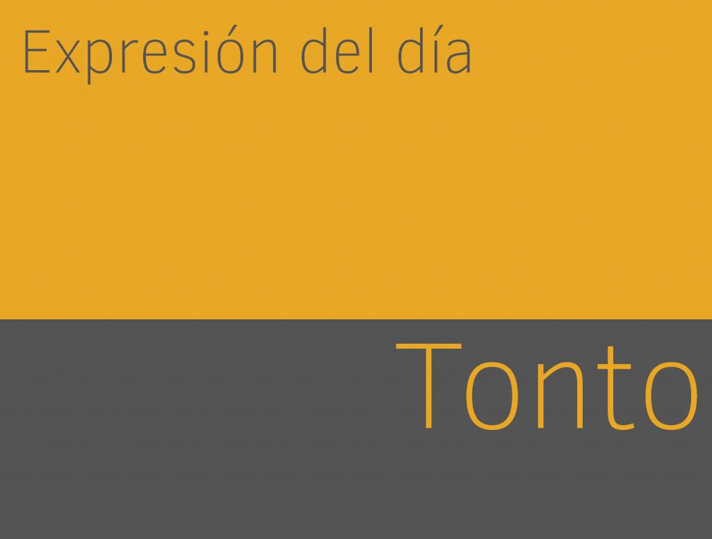Expresiones de TONTO en inglés 1