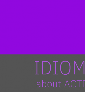 aprende idioms de action relacionadas con accion