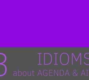 aprende idioms de aire y agenda relacionadas con las palabras agenda y aire
