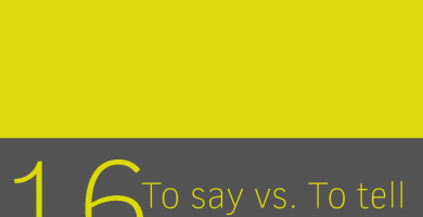 diferencias entre to say y to tell