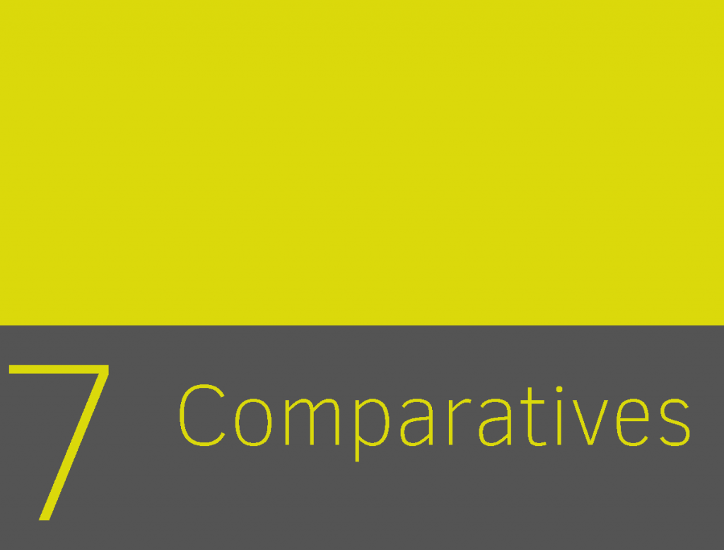 Clase 7 - Comparatives 1