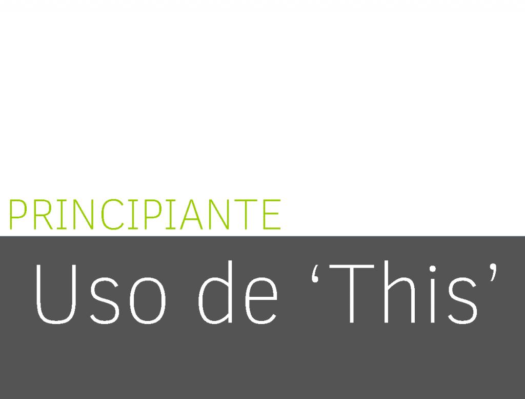 Uso de 'This' 1