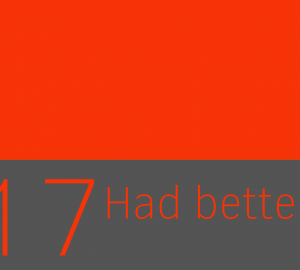 Forma de had better (mas vale que) en ingles