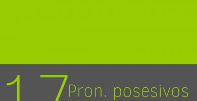 Forma de los pronombres posesivos en ingles