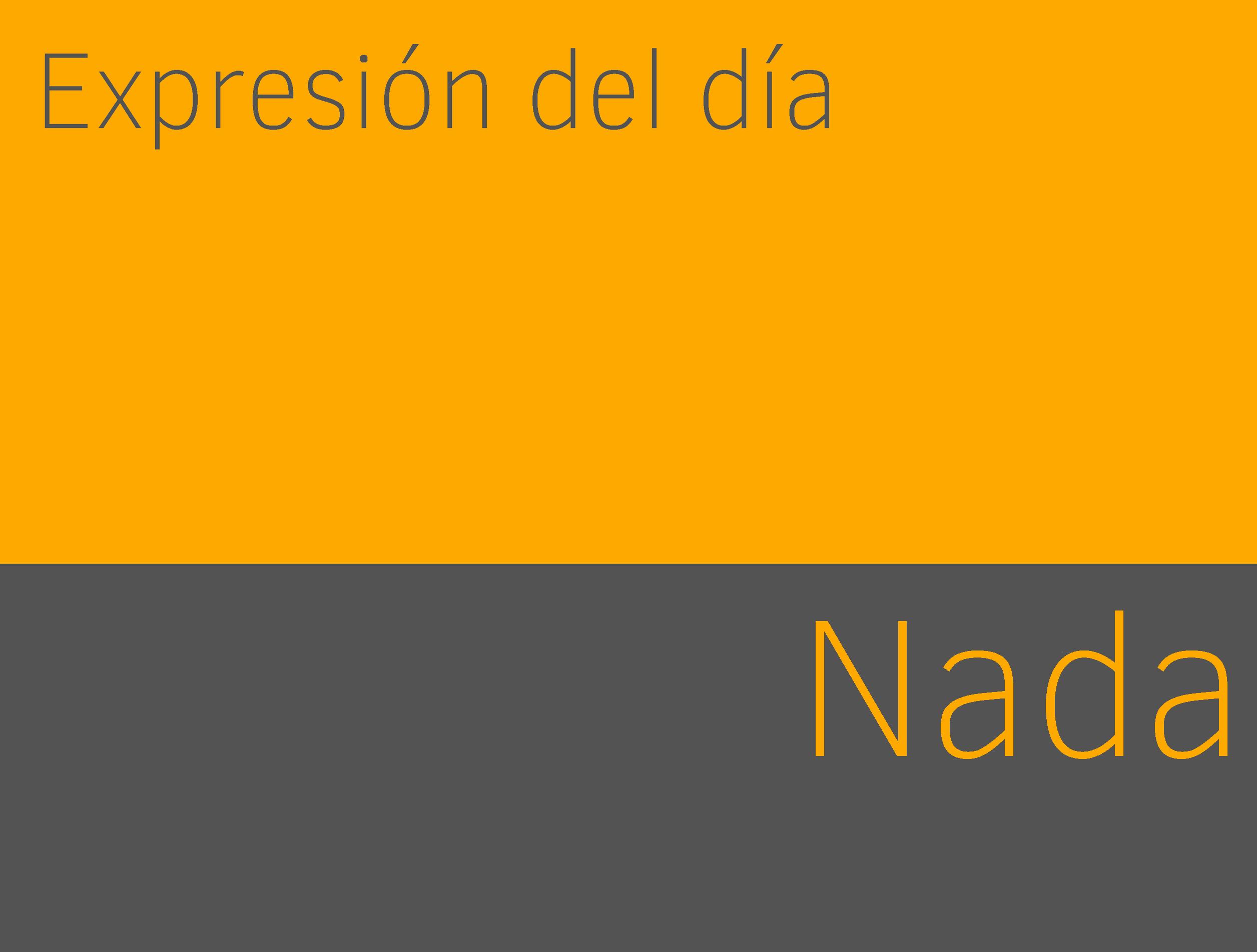 Aprender expresiones de nada en ingles