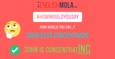 Common mistake 2: John está concentrado 3