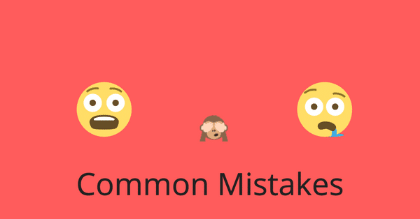 COMMON MISTAKES 1