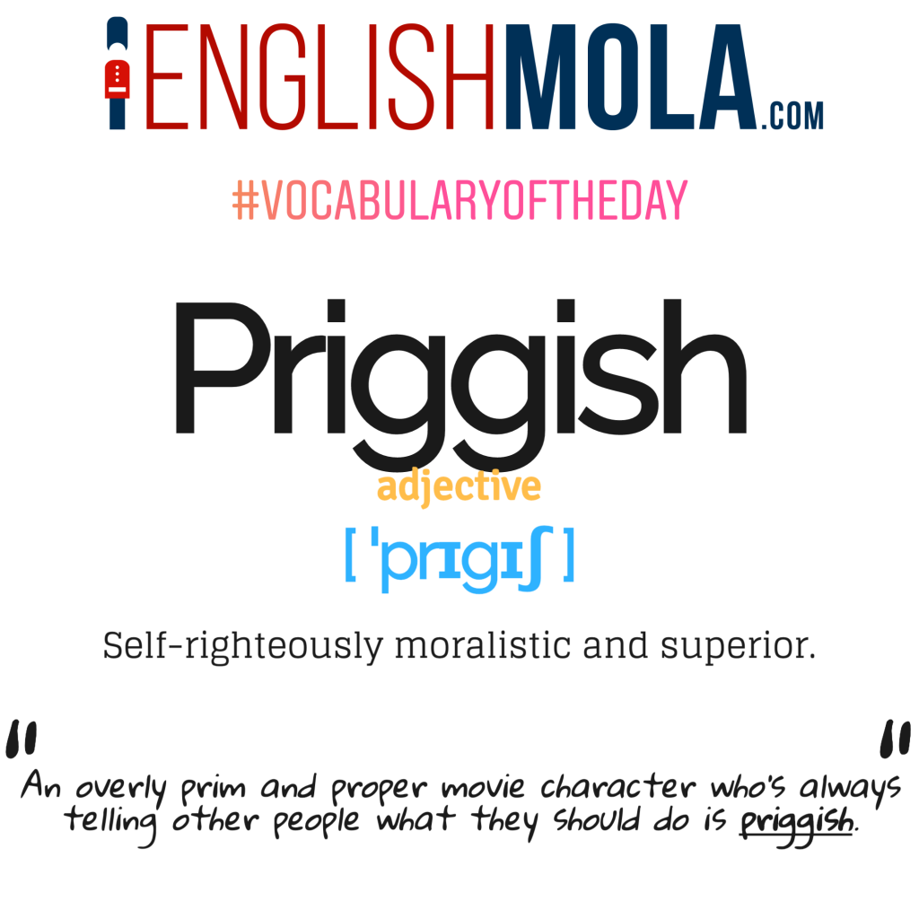 Priggish vocabulary