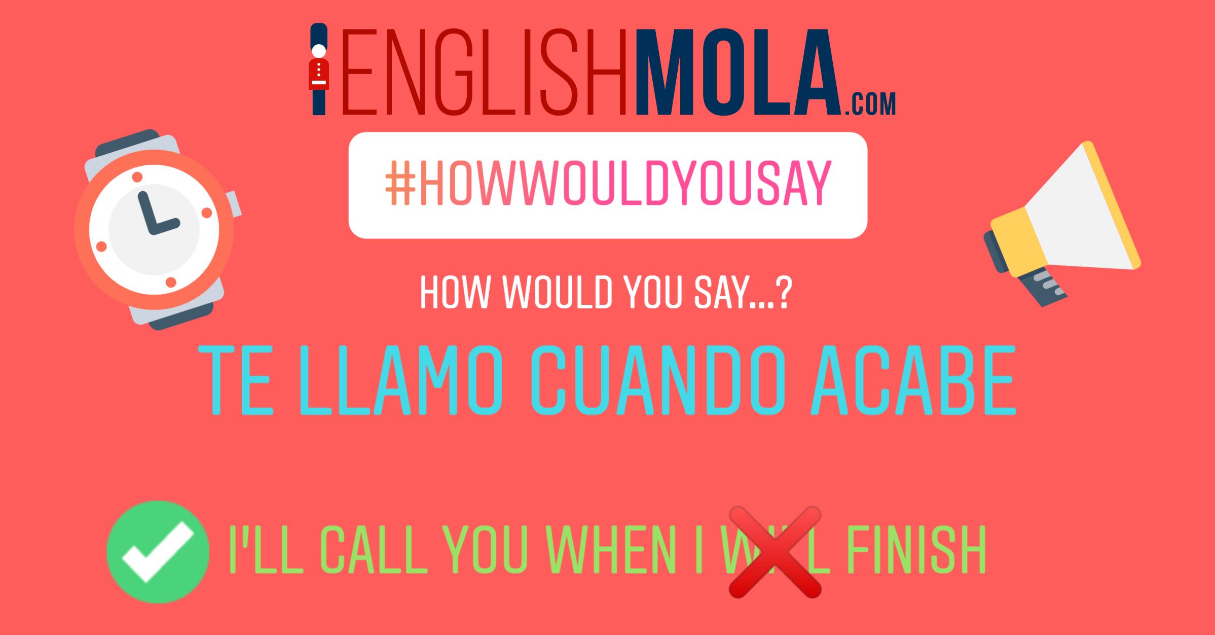 errores comunes en inglés when y presente simple en inglés